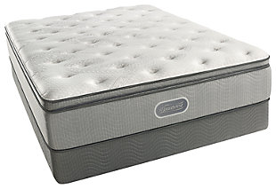 Beautyrest Maxwell Plush Pillow Top Twin Mattress, White, rollover