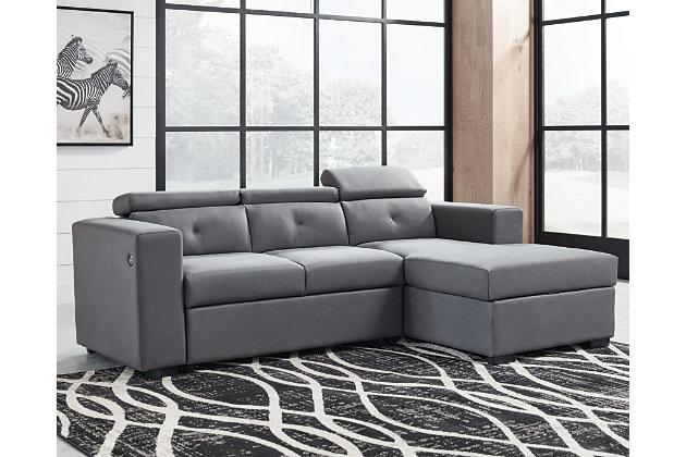 Salado 2 Piece Storage Sleeper, Ashley Furniture Sectional Sofa Bed
