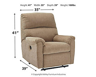 McTeer Power Recliner, Mocha, large