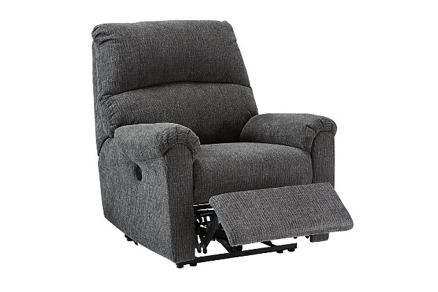 McTeer Power Recliner, Charcoal, large