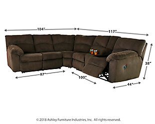 Hopkinton 2-Piece Reclining Sectional, , large
