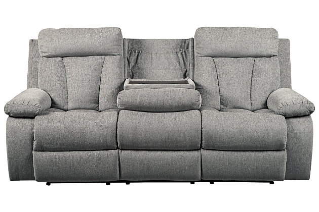 Mitchiner Reclining Sofa with Drop Down Table, , large