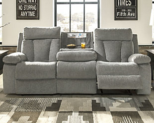 Mitchiner Reclining Sofa with Drop Down Table, , rollover