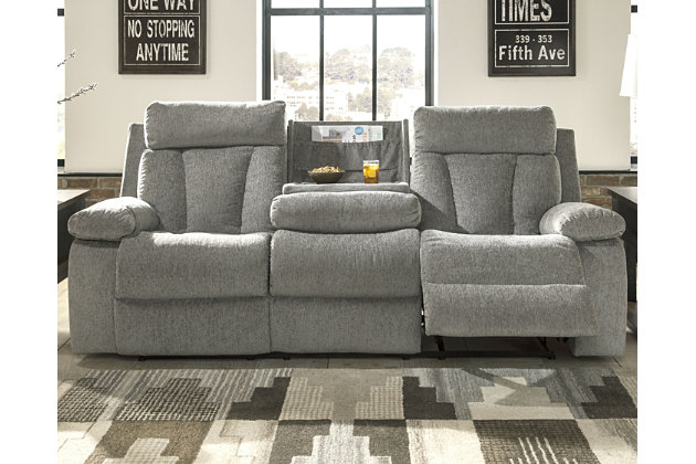 Mitchiner Reclining Sofa With Drop Down Table Ashley