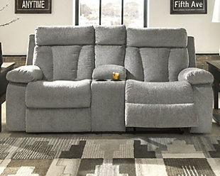 Mitchiner Reclining Loveseat with Console, , rollover
