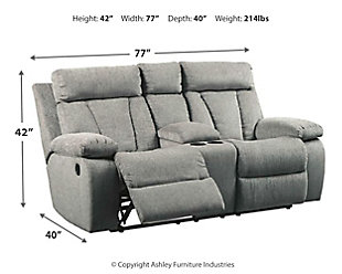 Mitchiner Reclining Loveseat with Console, , large