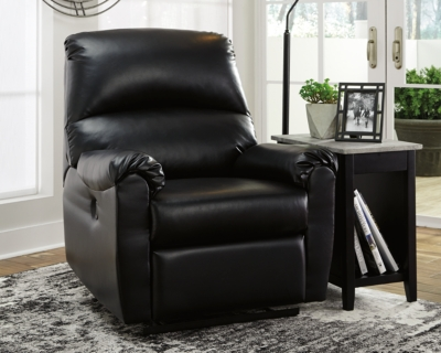 Ashley Crozier Power Recliner, Black