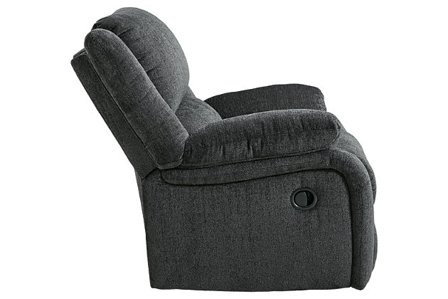Draycoll Recliner, Slate, large