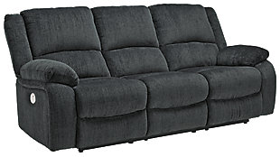 Draycoll Power Reclining Sofa, Slate, large