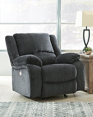 Draycoll Power Recliner, Slate, rollover