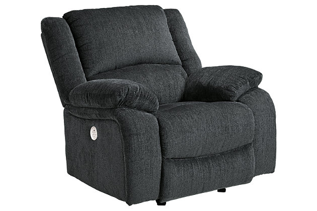 Draycoll Power Recliner, Slate, large