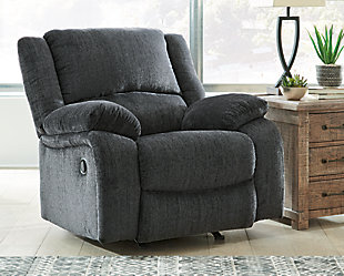 Draycoll Recliner, Slate, rollover