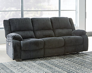 Draycoll Power Reclining Sofa, Slate, rollover