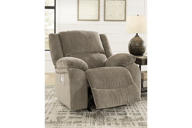 Draycoll Power Recliner, Pewter, large