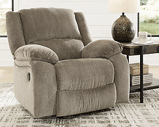 Draycoll Recliner, Pewter, rollover