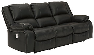 Calderwell Power Reclining Sofa, Black, large
