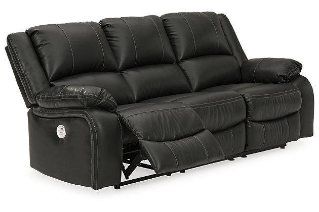 Calderwell Power Reclining Sofa, Black, large