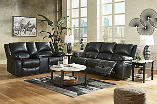 Calderwell Sofa and Loveseat, Black, large