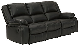Calderwell Reclining Sofa, Black, large