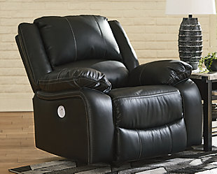 Calderwell Power Recliner, Black, rollover