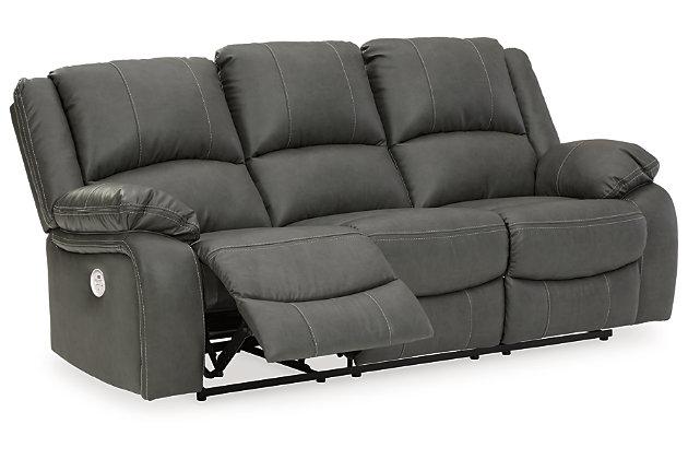 Calderwell Power Reclining Sofa, Gray, large