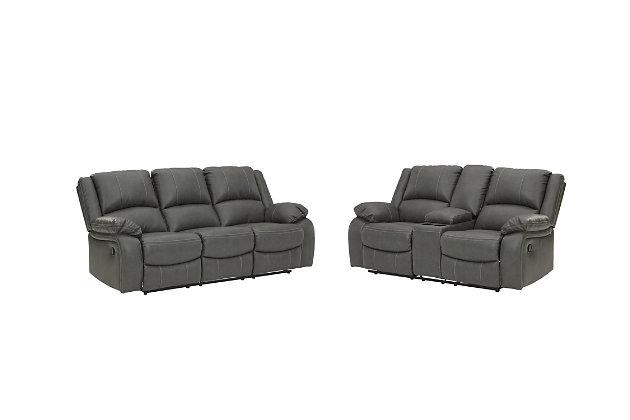 Calderwell Sofa and Loveseat, Gray, large