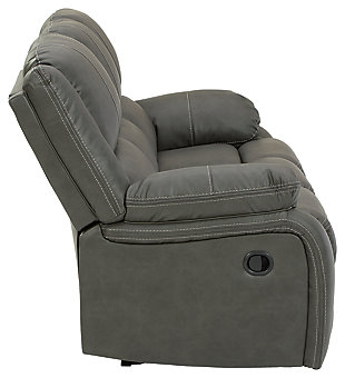 Calderwell Reclining Sofa, Gray, large