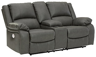 Calderwell Power Reclining Loveseat with Console, , large