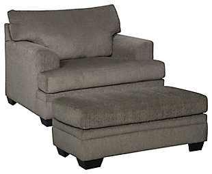 Dorsten Chair and Ottoman, Slate, large