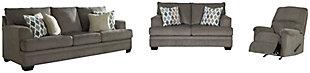 Dorsten Sofa, Loveseat and Recliner, Slate, large