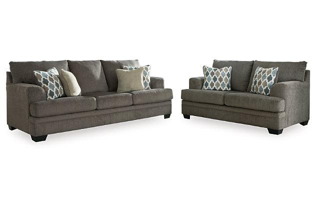 Dorsten Sofa and Loveseat, Slate, large