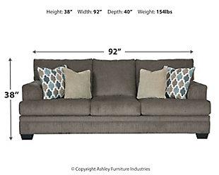 Dorsten Sofa, Slate, large
