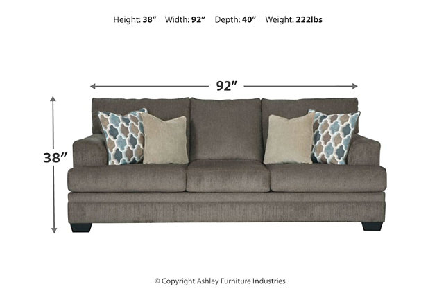 Dorsten Queen Sofa Sleeper, Slate, large