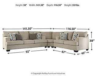 Dorsten 3-Piece Sectional, Sisal, large