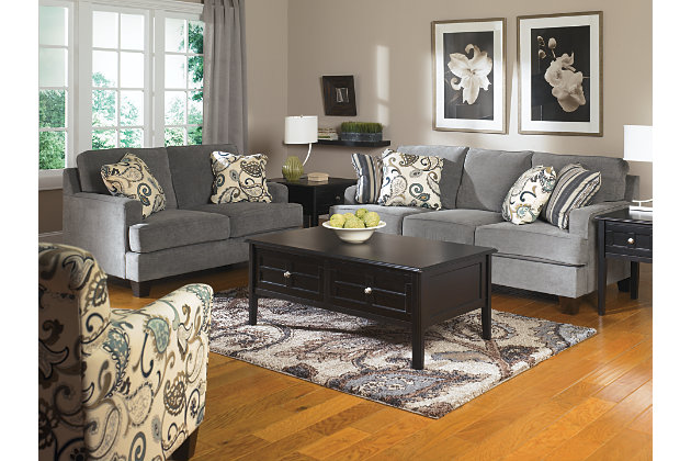 Steel Grey Love Seat And Couch With Paisley Accent Chair Part 82
