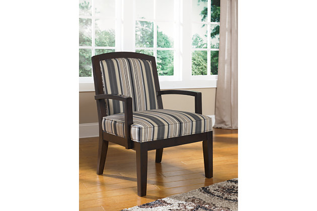 Black Yvette Accent Chair by Ashley HomeStore, Cotton (100 %)