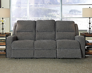 Krismen Power Reclining Sofa, Charcoal, rollover