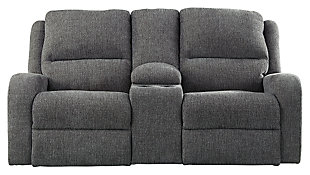 Krismen Power Reclining Loveseat, Charcoal, large