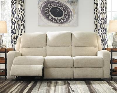 Krismen Power Reclining Sofa by Ashley HomeStore, Sand