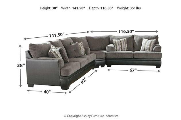 Millingar 3-Piece Sectional, , large