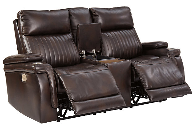 Team Time Power Reclining Loveseat with Console, , large