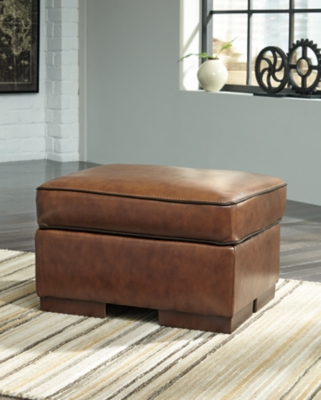 Topaz Leather Ottoman Product Photo 2060