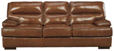 Ashley Palner Sofa, Topaz Leather