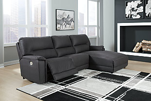 Henefer 3-Piece Power Reclining Sectional with Chaise, , rollover