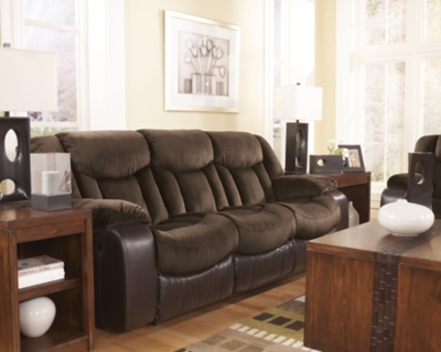 Tafton Reclining Sofa by Ashley HomeStore, Java