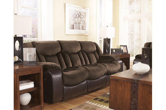 beautifully blended textures on this dark brown reclining sofa  sc 1 st  Ashley Furniture HomeStore & Tafton Reclining Sofa | Ashley Furniture HomeStore islam-shia.org