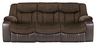 Tafton Reclining Sofa, Java, large