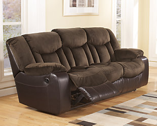 Tafton Reclining Sofa, Java, rollover