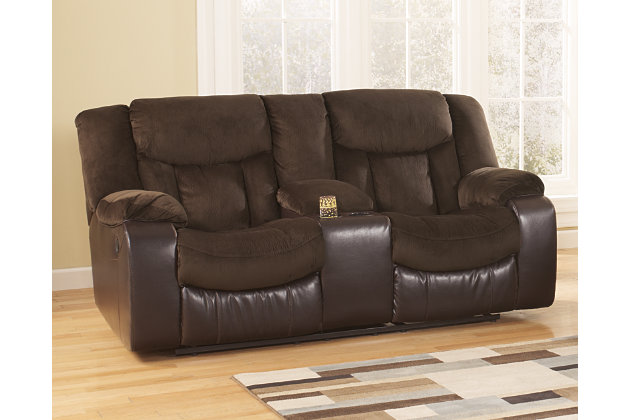 Tafton Reclining Loveseat With Console Ashley Furniture Homestore