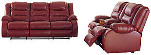 Vacherie Sofa and Loveseat, Salsa, large